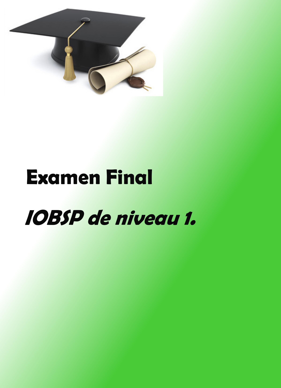 formation iobsp 1 examen final