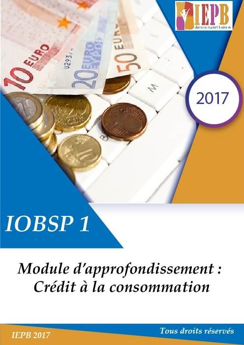 IOBSP 1 module d'approfondissement : Consommation.