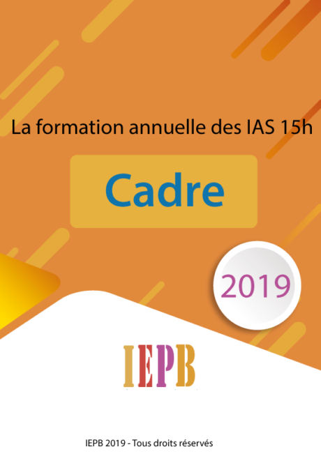 formation IAS 15 Heures - Cadre