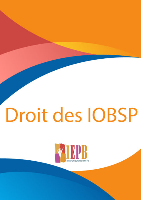 Formation IOBSP de 7h - droit des IOBSP